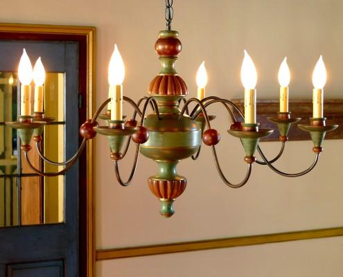 Lustre bois:  Le Kamouraska, Eric Dumais tourneur, reproduction, création, chandelier, luminaire